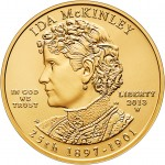 2013 Ida McKinley First Spouse Uncirculated Gold Coin Obverse (US Mint image)