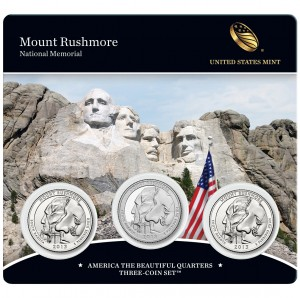 2013 Mount Rushmore National Memorial Three-Coin Set (US Mint image)