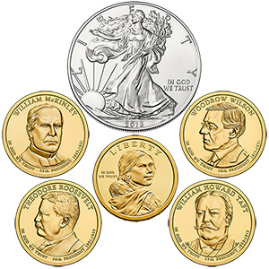 2013 United States Mint Annual Uncirculated Dollar Coin Set Coins (US Mint image)