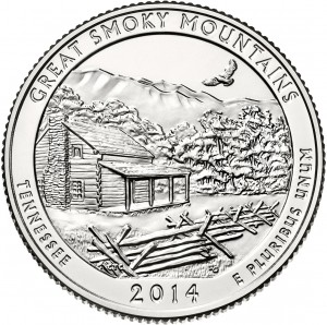 2014 Great Smoky Mountains National Park Quarter (US Mint image)