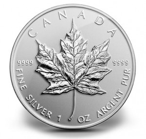 2014 Maple Leaf Fine Silver Coin with Reverse Proof