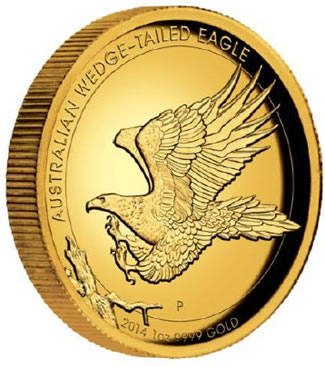2014 Wedge-Tailed Eagle Gold Proof High Relief Coin