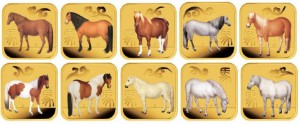 2014 Year of the Horse Gold Ten-Coin Set
