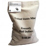 2014 Kennedy Half Dollar 200-Coin Bag (US Mint image)