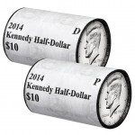 2014 Kennedy Half Dollar Two-Roll Set (US Mint image)