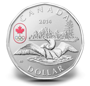 2014 Lucky Loonie Fine Silver Coin (Royal Canadian Mint image)