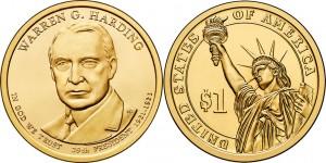 2014 Warren G. Harding $1 Coin (US Mint image)