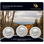 Great Smoky Mountains Quarter Three-Coin Set (US Mint image)