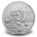 $20 for $20 2014 Bobcat Fine Silver Coin (Royal Canadian Mint image)