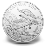 $100 Bald Eagle Fine Silver Coin (Royal Canadian Mint image)