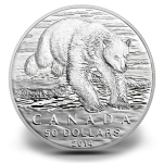 2014 $50 Polar Bear Silver Coin