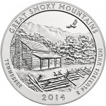 Great Smoky Mountains Five Ounce Silver Uncirculated Coin