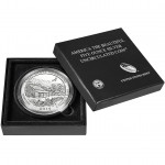 Great Smoky Mountains Five Ounce Silver Uncirculated Coin packaging