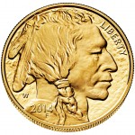2014 American Buffalo One Ounce Gold Proof Coin (Obverse)