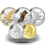 2014 Bald Eagle 5-Coin Subscription