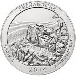 2014 Shenandoah National Park America the Beautiful Five Ounce Silver Uncirculated Coin™