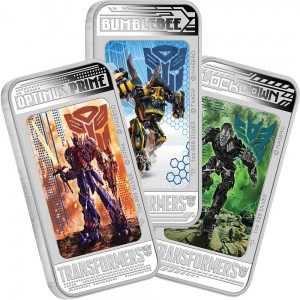 Transformers Age of Extinction 2014 1oz Silver Proof Lenticular Three Coin Pack